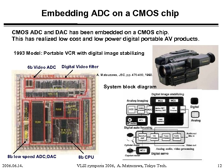 Embedding ADC on a CMOS chip CMOS ADC and DAC has been embedded on