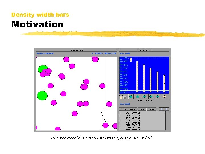 Density width bars Motivation This visualization seems to have appropriate detail. . .