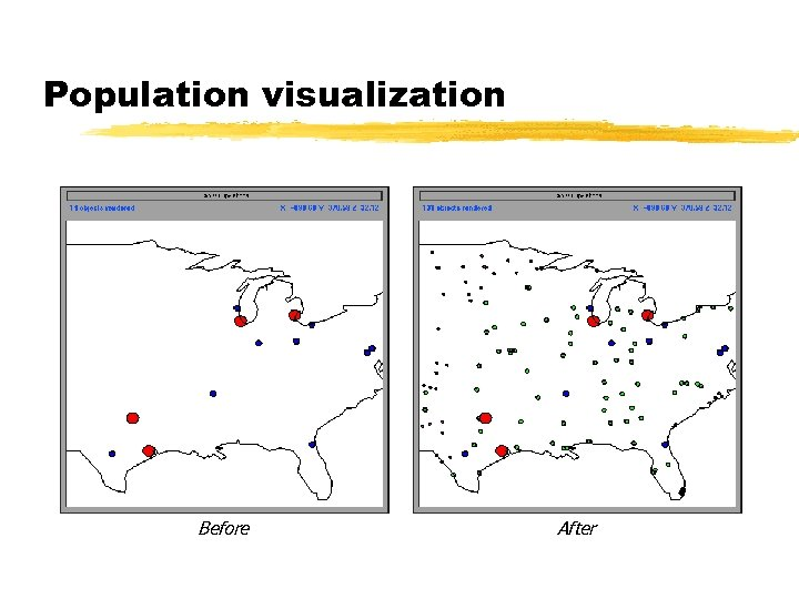Population visualization Before After