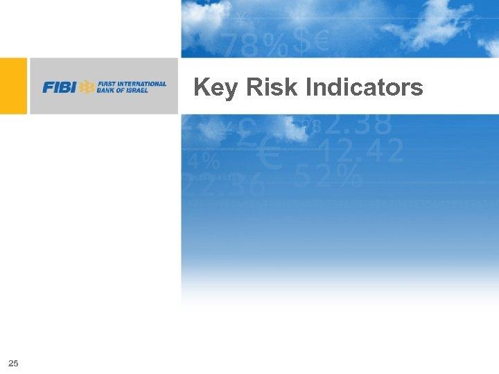Key Risk Indicators 25