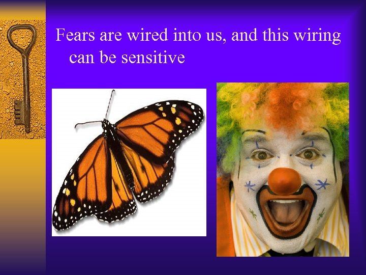 Fears are wired into us, and this wiring can be sensitive