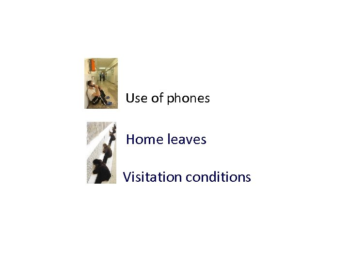 Use of phones Home leaves Visitation conditions