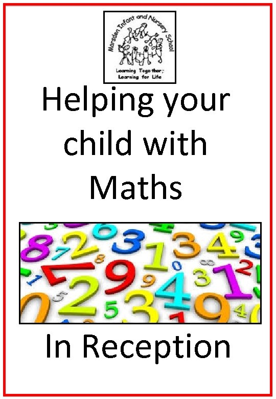Helping your child with Maths In Reception