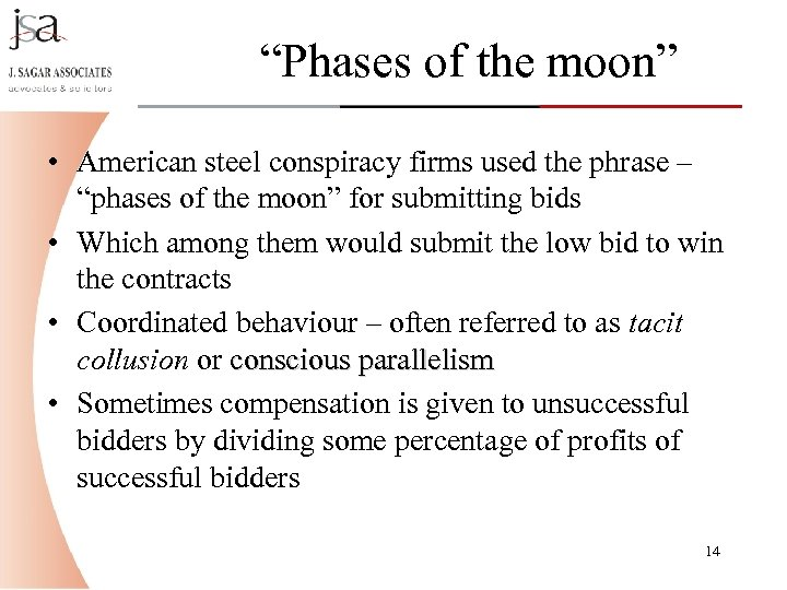"""""""Phases of the moon"""" • American steel conspiracy firms used the phrase – """"phases"""