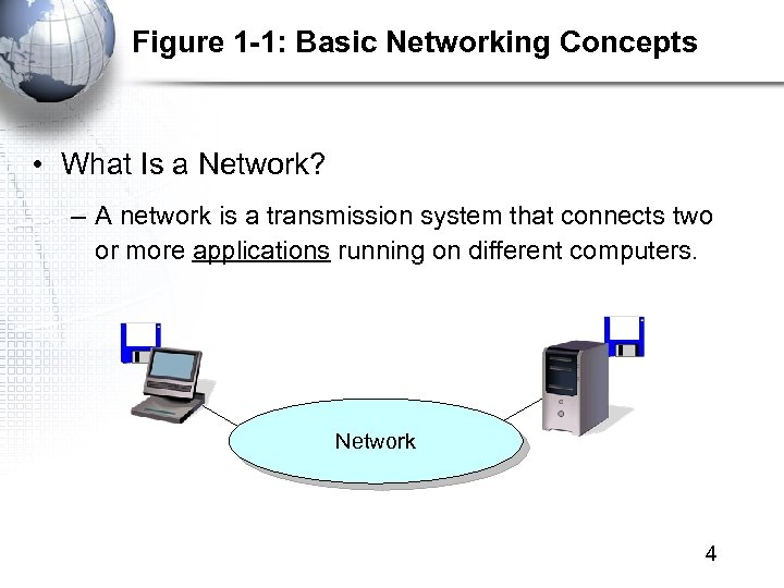 Figure 1 -1: Basic Networking Concepts • What Is a Network? – A network