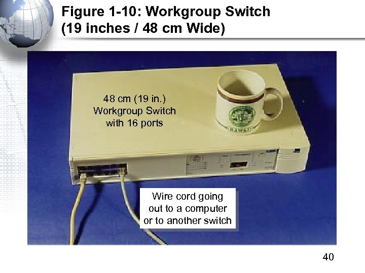 Figure 1 -10: Workgroup Switch (19 inches / 48 cm Wide) 48 cm (19