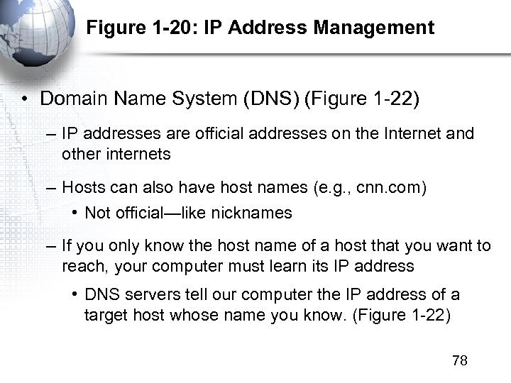 Figure 1 -20: IP Address Management • Domain Name System (DNS) (Figure 1 -22)
