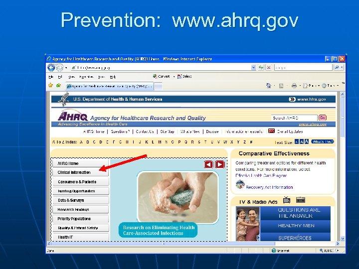 Prevention: www. ahrq. gov 60