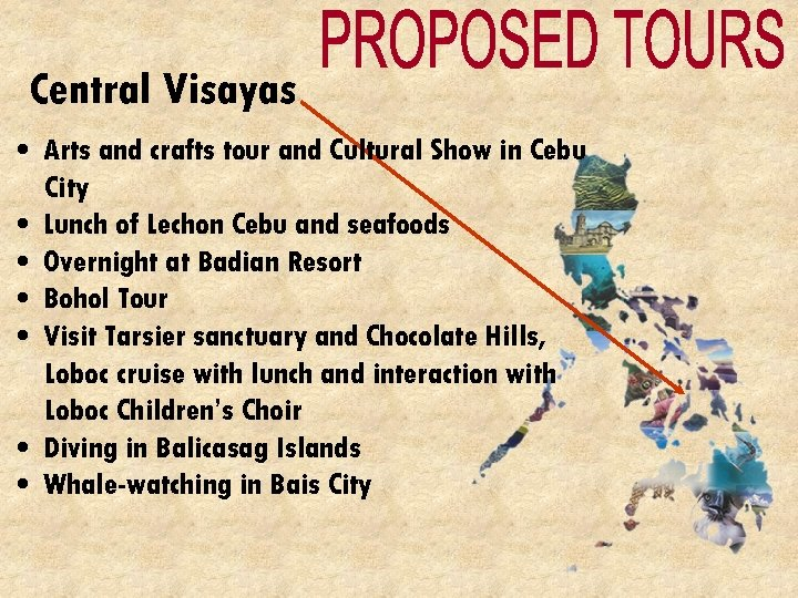 Central Visayas • Arts and crafts tour and Cultural Show in Cebu City •