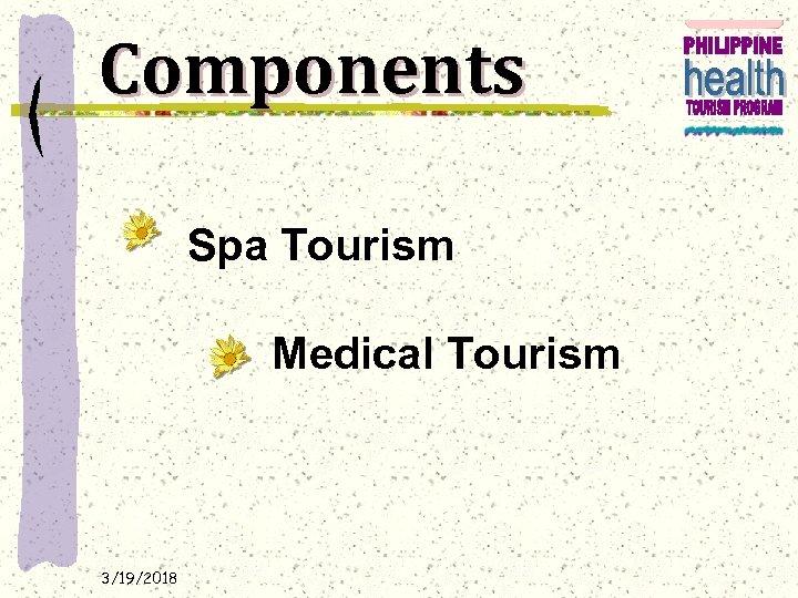 Components Spa Tourism Medical Tourism 3/19/2018