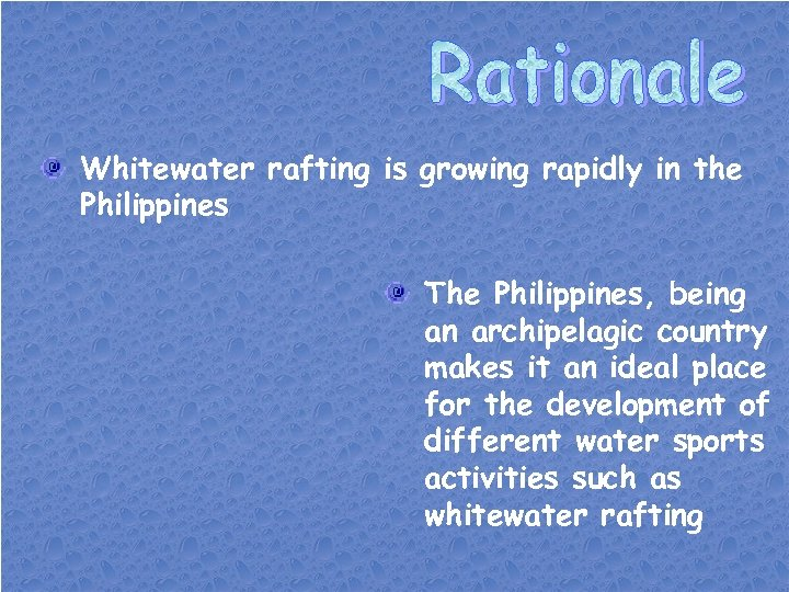 Whitewater rafting is growing rapidly in the Philippines The Philippines, being an archipelagic country