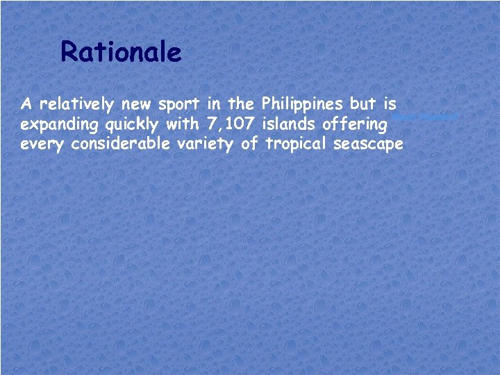 Rationale A relatively new sport in the Philippines but is Kevin Hamdorf expanding quickly