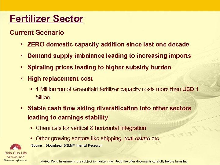 Fertilizer Sector Current Scenario • ZERO domestic capacity addition since last one decade •