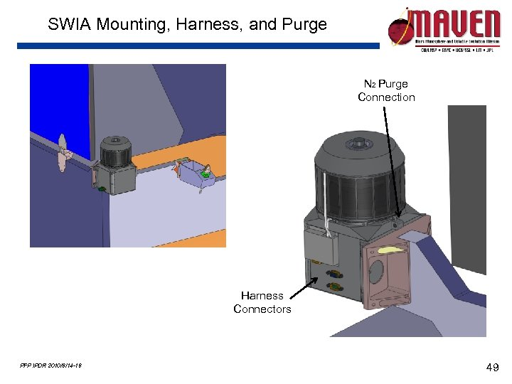 SWIA Mounting, Harness, and Purge N 2 Purge Connection Harness Connectors PFP IPDR 2010/6/14