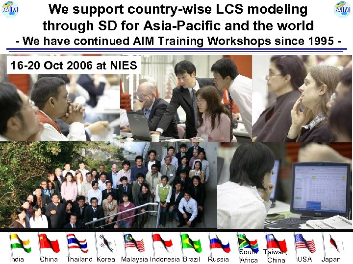 We support country-wise LCS modeling through SD for Asia-Pacific and the world - We