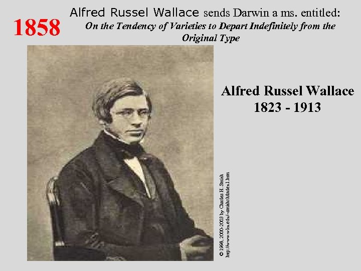 On the Tendency of Varieties to Depart Indefinitely from the Original Type Alfred Russel