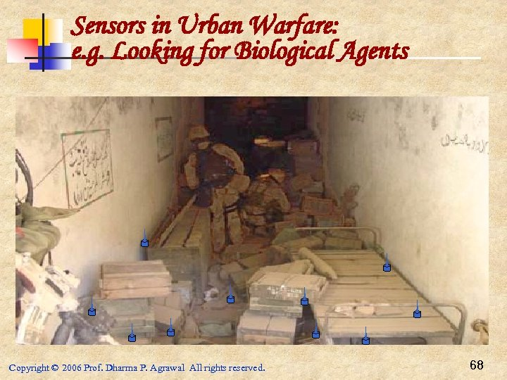 Sensors in Urban Warfare: e. g. Looking for Biological Agents Copyright © 2006 Prof.