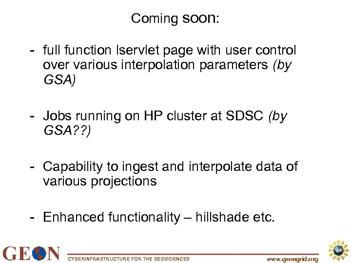 Coming soon: - full function lservlet page with user control over various interpolation parameters