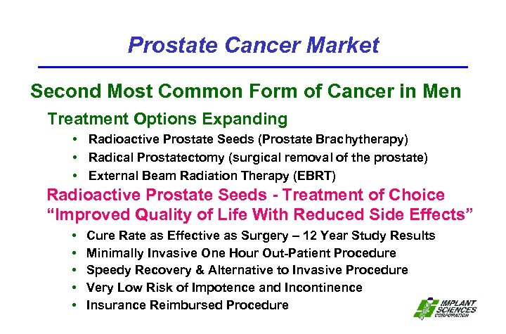 Prostate Cancer Market Second Most Common Form of Cancer in Men Treatment Options Expanding