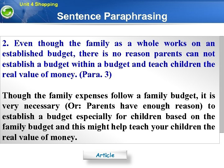paraphrasing for kids