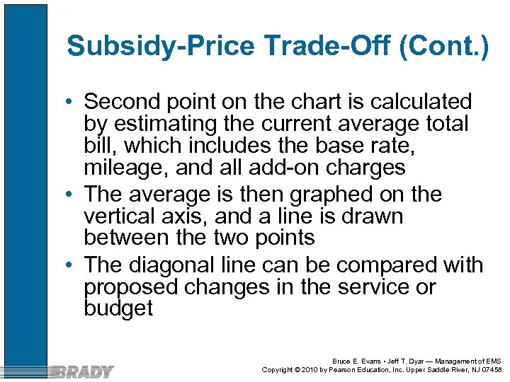 Subsidy-Price Trade-Off (Cont. ) • Second point on the chart is calculated by estimating