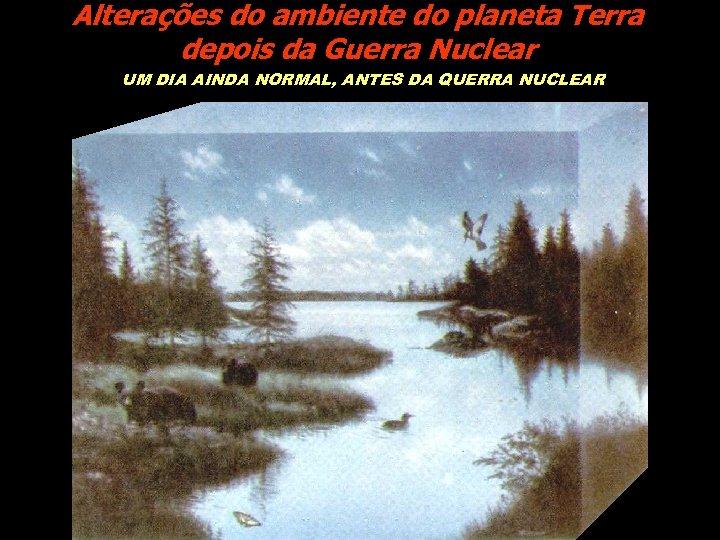 Alterações do ambiente do planeta Terra depois da Guerra Nuclear UM DIA AINDA NORMAL,