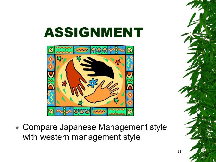 ASSIGNMENT Compare Japanese Management style with western management style 11