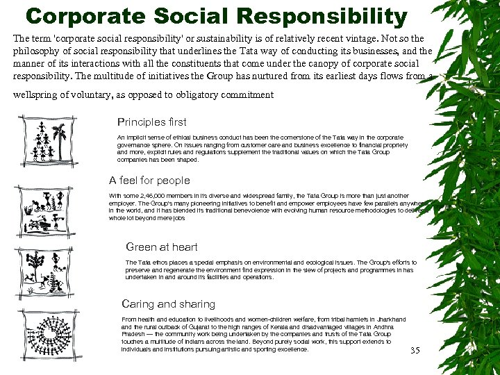 Corporate Social Responsibility The term 'corporate social responsibility' or sustainability is of relatively recent