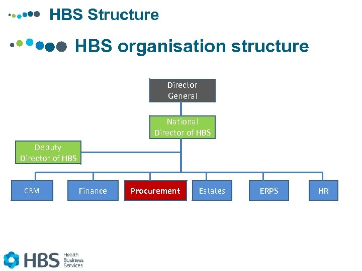 HBS Structure HBS organisation structure Director General National Director of HBS Deputy Director of