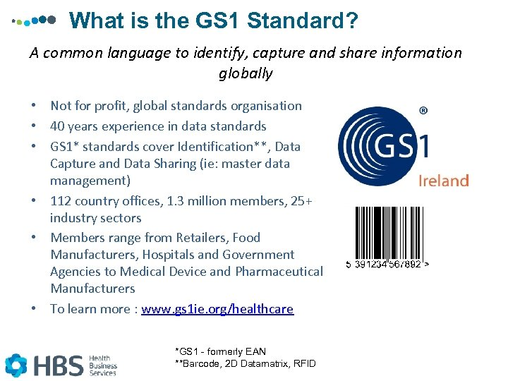 What is the GS 1 Standard? A common language to identify, capture and share