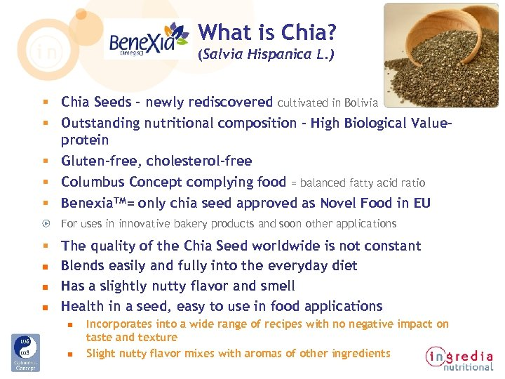 What is Chia? (Salvia Hispanica L. ) § Chia Seeds - newly rediscovered cultivated
