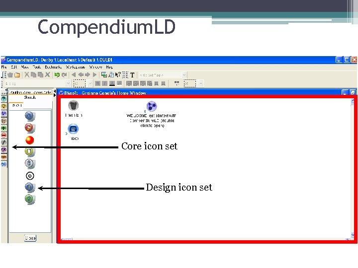 Compendium. LD Core icon set Design icon set