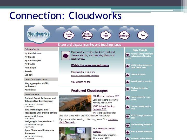 Connection: Cloudworks