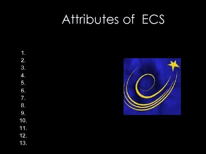 Attributes of ECS 1. 2. 3. 4. 5. 6. 7. 8. 9. 10. 11.