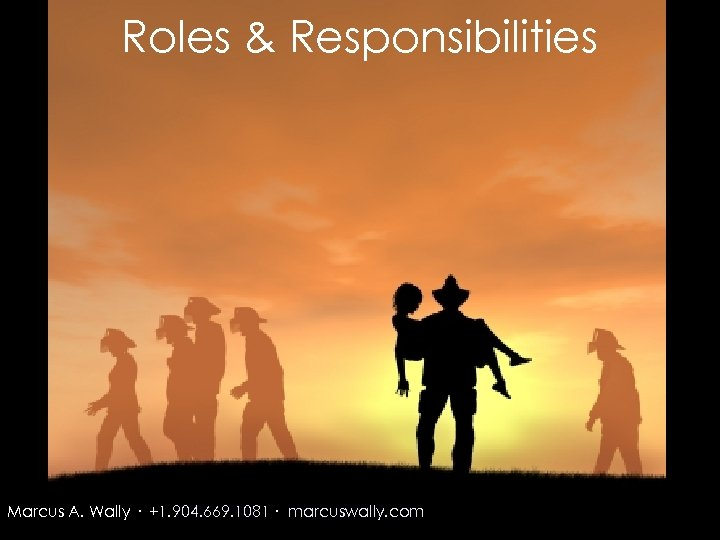 Roles & Responsibilities Marcus A. Wally · +1. 904. 669. 1081 · marcuswally. com