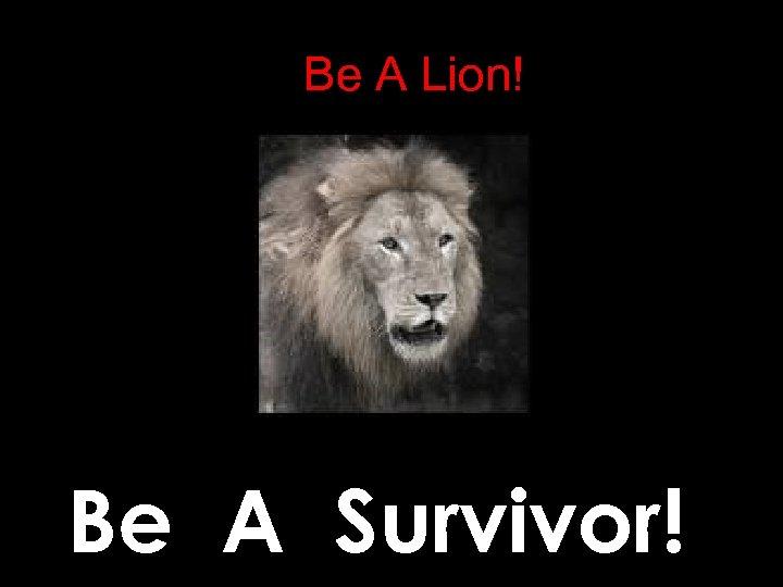 Be A Lion! Be A Survivor!