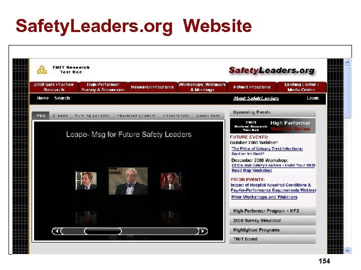 Safety. Leaders. org Website 154