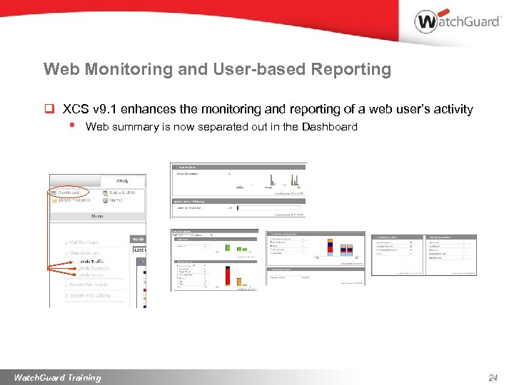 Web Monitoring and User-based Reporting q XCS v 9. 1 enhances the monitoring and