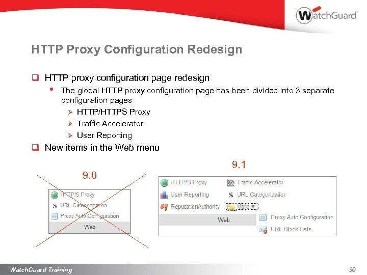 HTTP Proxy Configuration Redesign q HTTP proxy configuration page redesign • The global HTTP