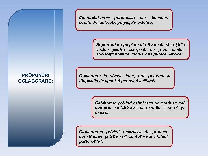 Comercializarea produselor din domeniul nostru de fabricaţie pe pieţele externe. Reprezentare pe piaţa din