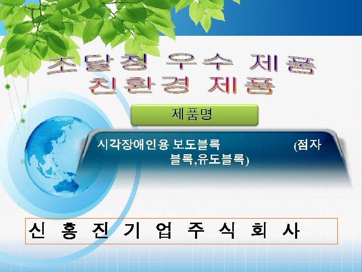 제품명 시각장애인용 보도블록 블록, 유도블록) (점자 신 홍 진 기 업 주 식 회