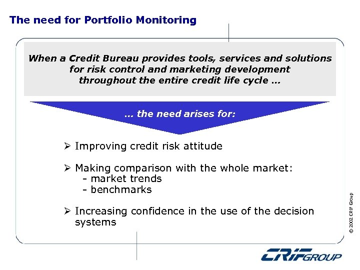 The need for Portfolio Monitoring When a Credit Bureau provides tools, services and solutions