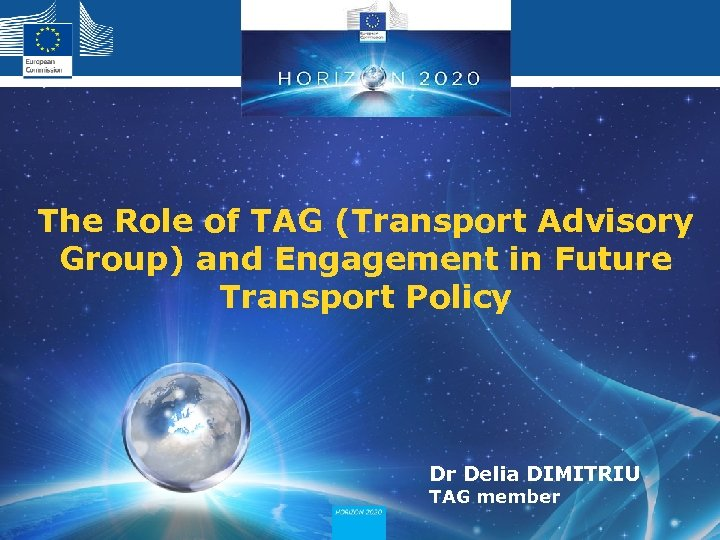 The Role of TAG (Transport Advisory Group) and Engagement in Future Transport Policy Dr