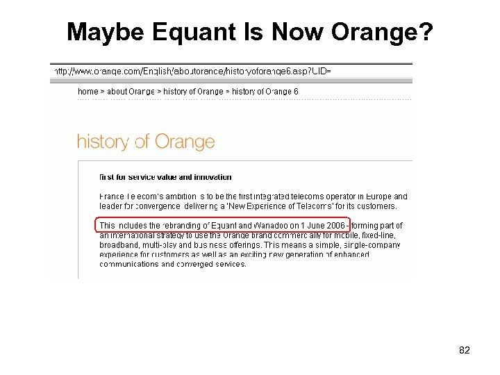 Maybe Equant Is Now Orange? 82