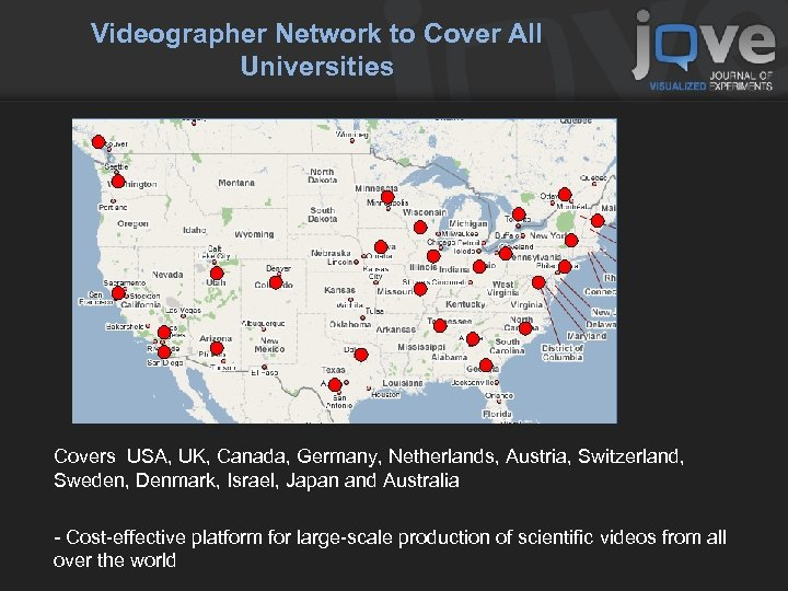 Videographer Network to Cover All Universities Covers USA, UK, Canada, Germany, Netherlands, Austria, Switzerland,