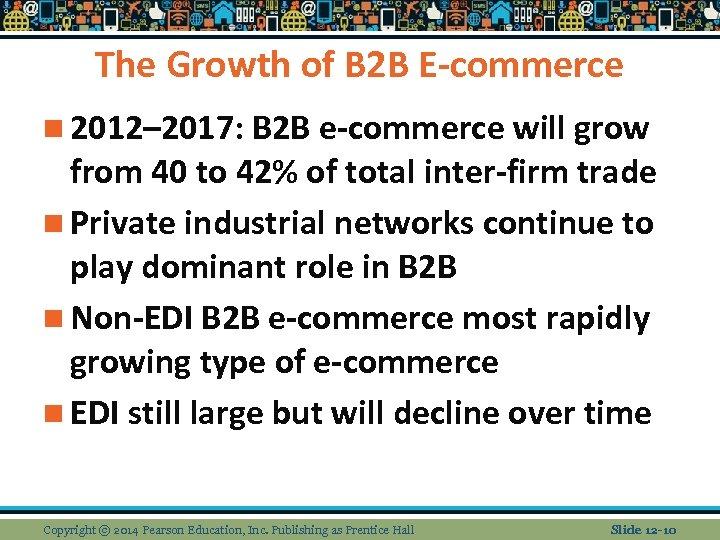 The Growth of B 2 B E-commerce n 2012– 2017: B 2 B e-commerce