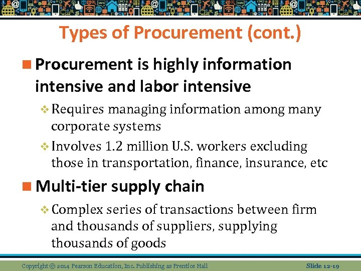 Types of Procurement (cont. ) n Procurement is highly information intensive and labor intensive