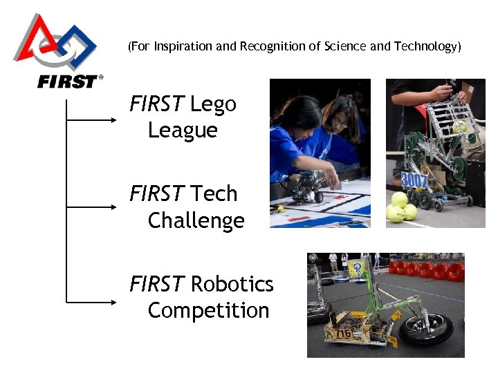 (For Inspiration and Recognition of Science and Technology) FIRST Lego League FIRST Tech Challenge
