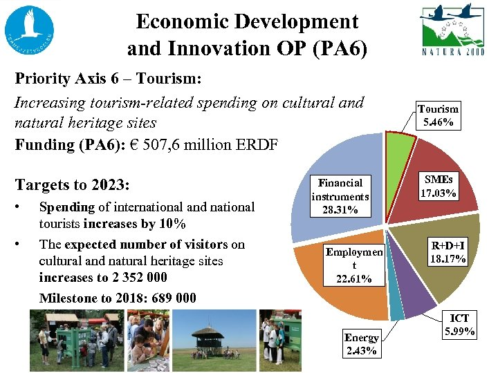 Economic Development and Innovation OP (PA 6) Priority Axis 6 – Tourism: Increasing tourism-related