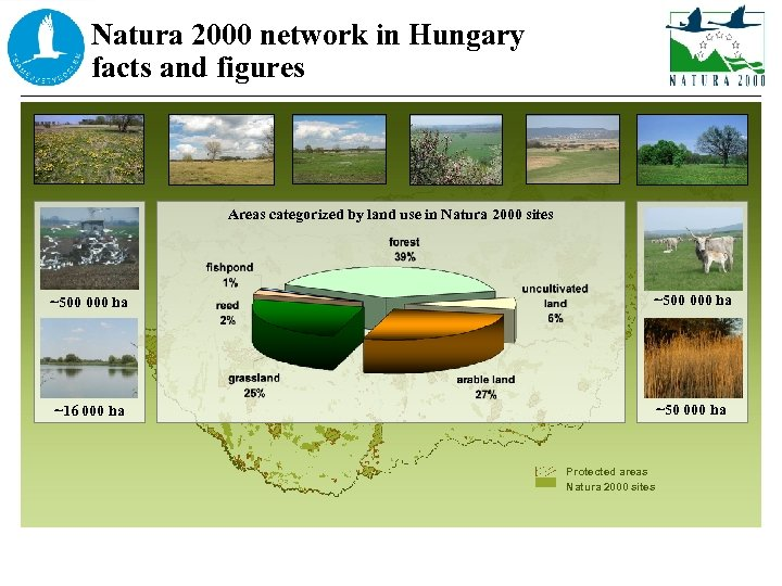 Natura 2000 network in Hungary facts and figures Areas categorized by land use in